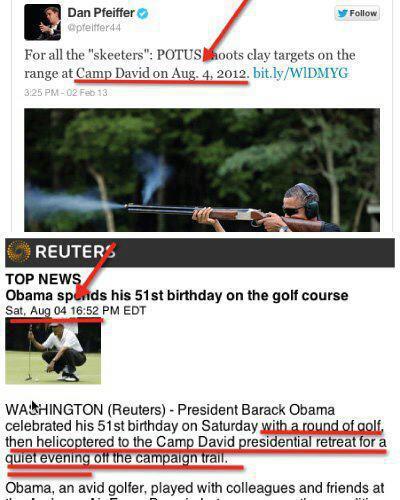 Obama's Skeet Lie