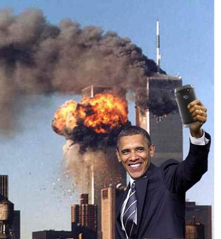 Obama selfie 911