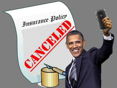 Obama selfie - Insurance cancelled