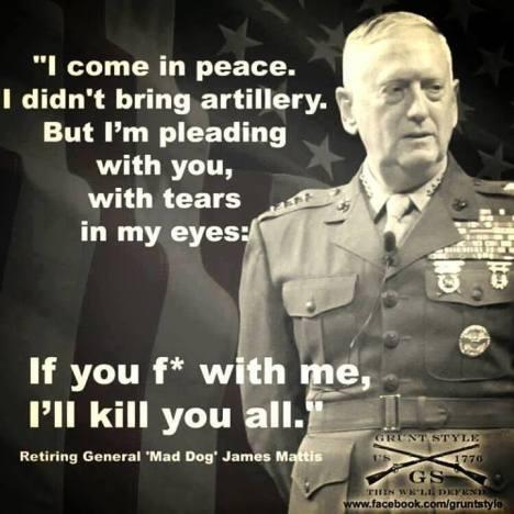 Mattis - I come in peace