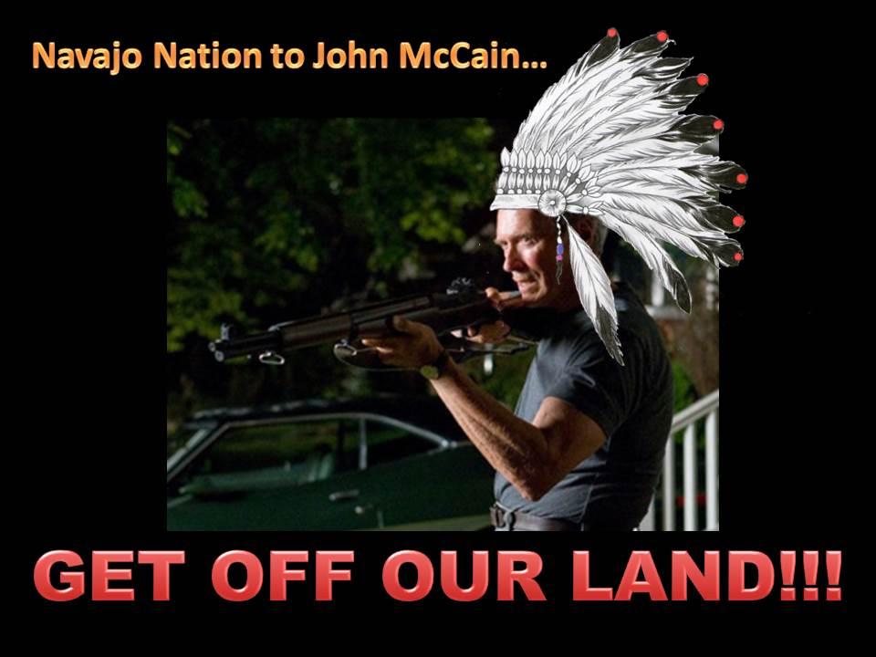 Navajo nation goes clint eastwood on hanoi john mccain the