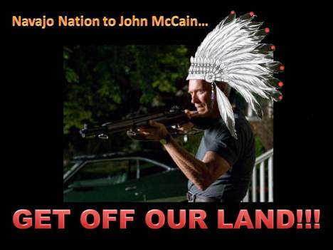 Navajo Nation to John McCain