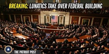 Lunatics take over federal building
