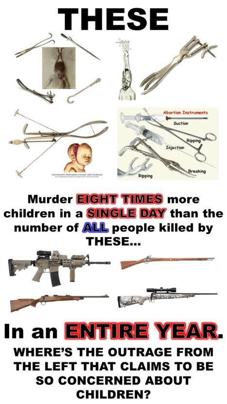 Rifles vs Abortion Tools
