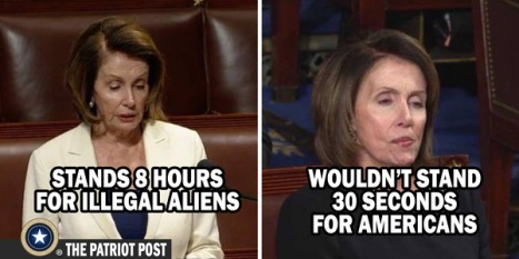 Stood 8 hours for ILLEGALS
