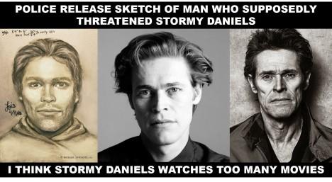 Stormy Daniels perp sketch