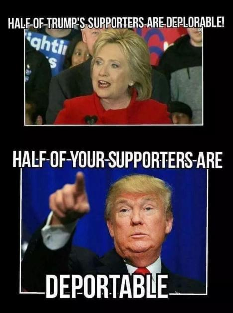 Deplorable vs Deportable