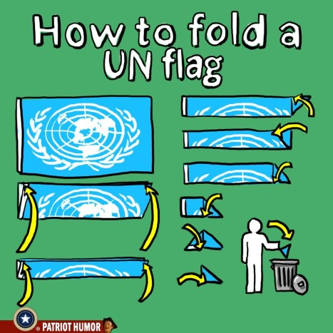 How to fold a UN flag